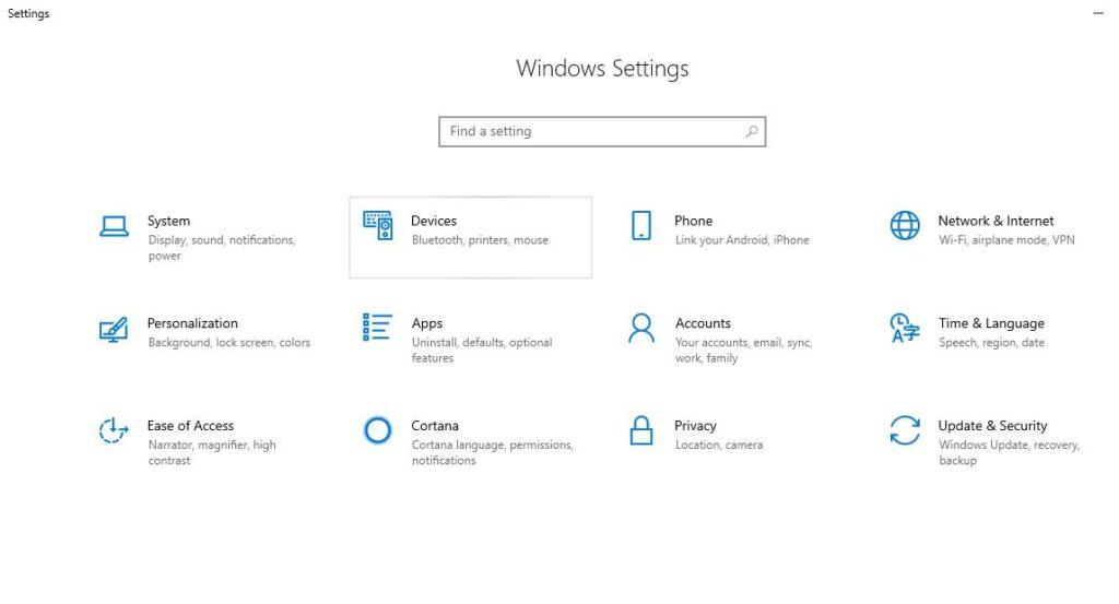 Window settings